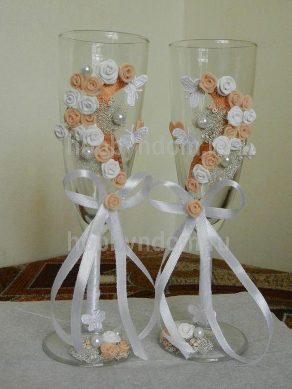 Оформление бокалов на свадьбу своими руками мастер класс